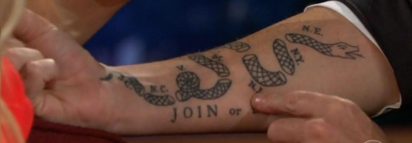 Join Or Die Craig Fergusons Tattoo
