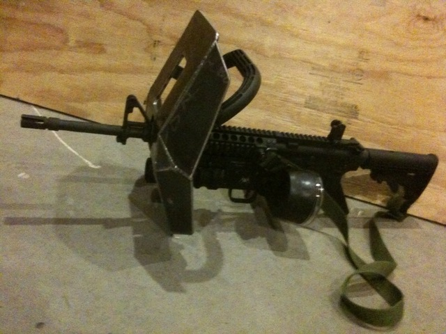 Homemade Shielded Weapon System