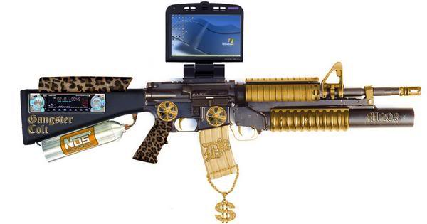 The Only Logical Rifle To Go With Your Tiger Striped Desert Eagle
