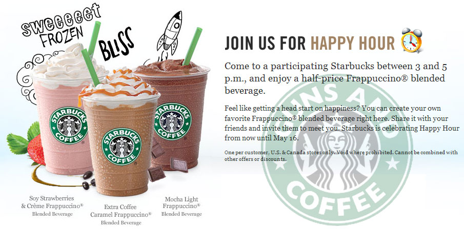 Half Price Drinks Starbucks