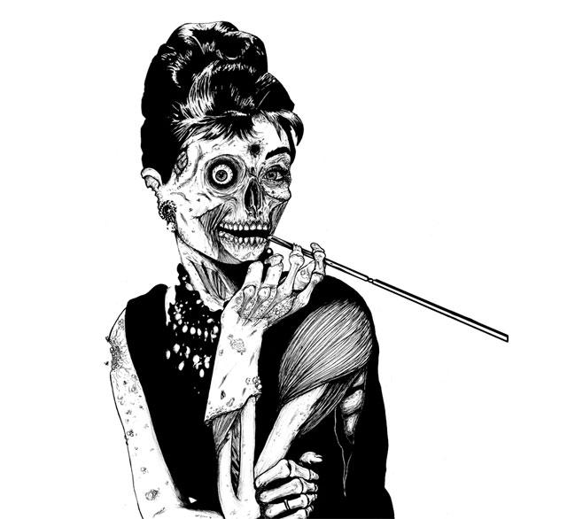 Zombie-at-Tiffanys-t-shirt