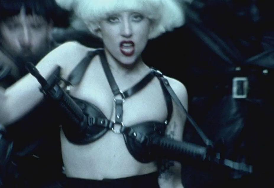 Lady-Gaga-Alejandro-AR-15-SBR-Bra