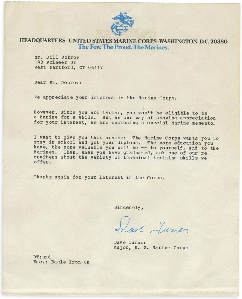 Marine corps letter response to child applicant spiritdancerdesigns Image collections