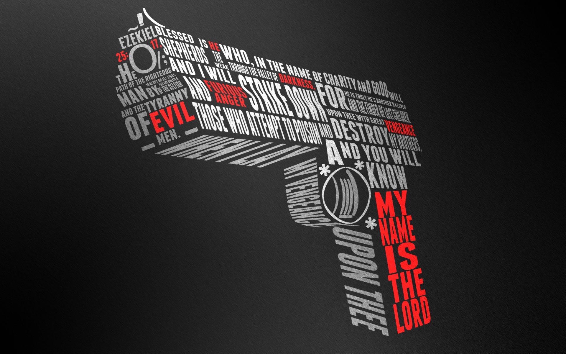 Ezekiel 25:17 Gun Wallpaper