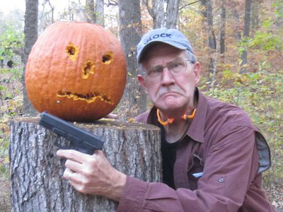 Bad Pumpkin Carving Glock Pumpkin Carving And