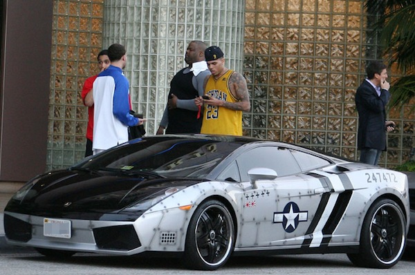 Chris Brown Lamborghini Jet Fighter