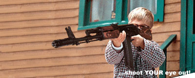 Ralphie Upgrades – Red Ryder BB Gun To AK-47