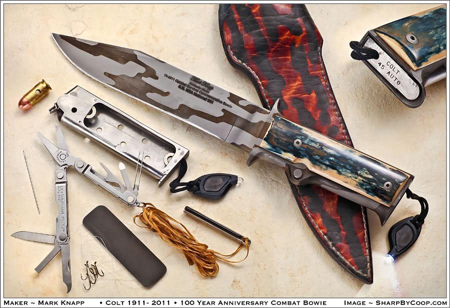 1911 Pistol Inspired Survival Knife