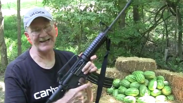 Hickok45-Gallagher-Watermelon-m4-shooting