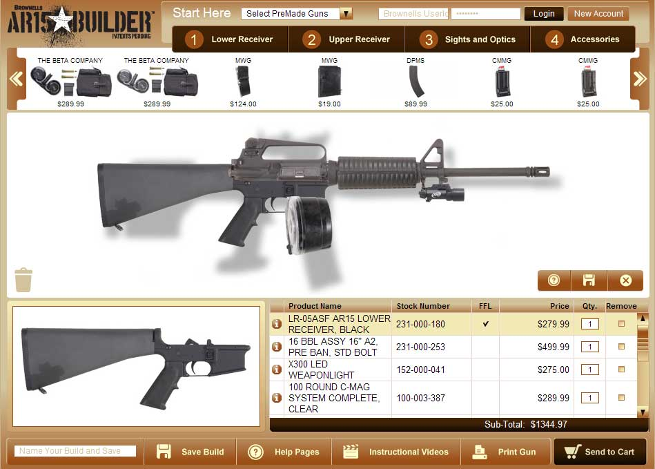 Online virtual weapon building for Building builder online