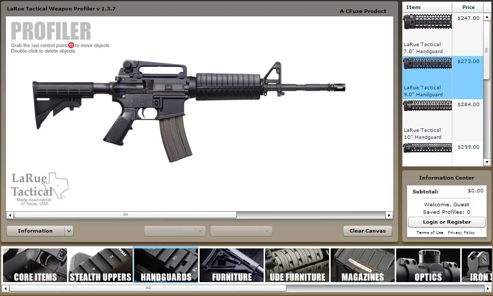 Online virtual weapon building for Building maker online