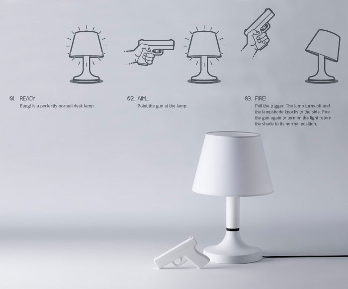 Shoot The Light Out – Designer Lamp