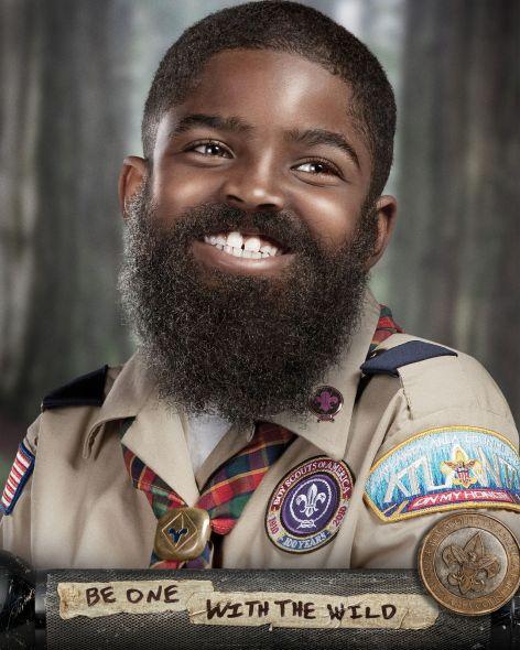 Kid with beard