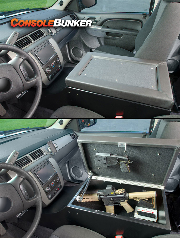 Vehicle Center Console Gun Storage