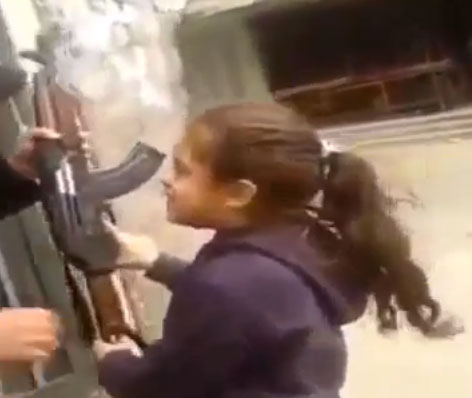 Syria-Girl-Shoots-AK