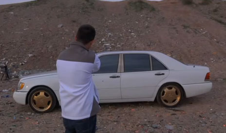 Put A Human In A Bullet Proof Car And Shoot At It For Science