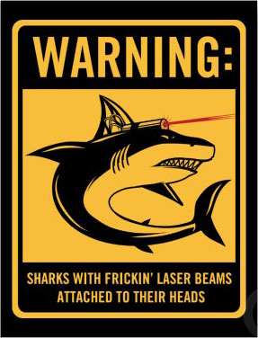 Shark-with-laser-on-head
