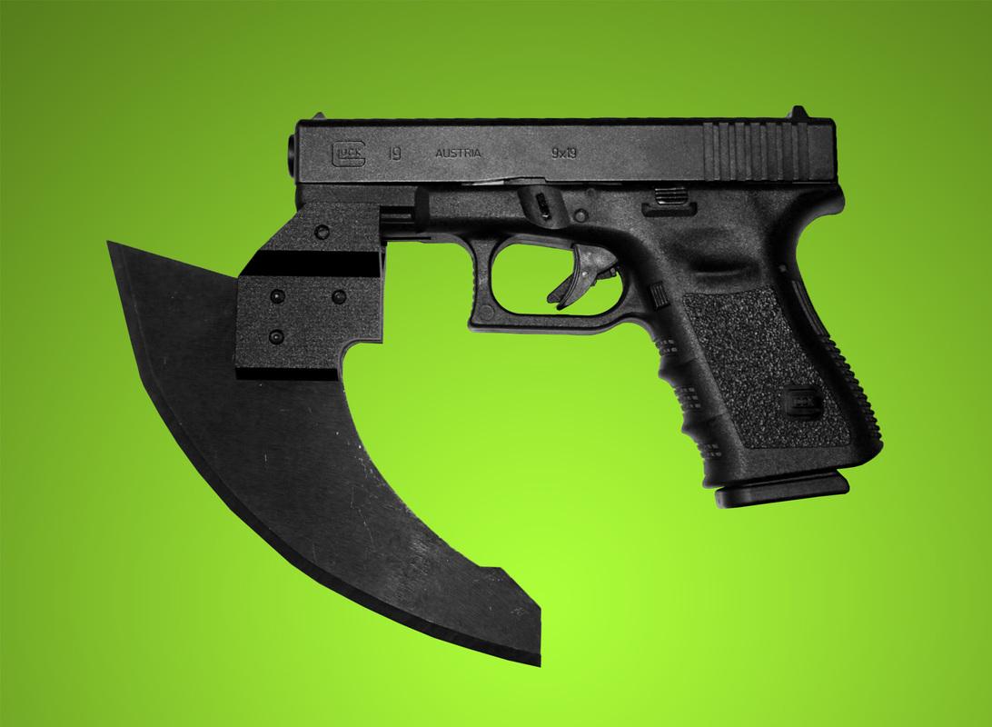 Gun-Rail-Mounted-Axe-Blade-Glock