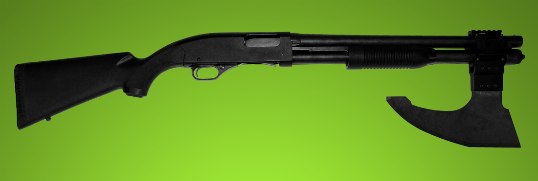 Gun-Rail-Mounted-Axe-Blade-Shotgun