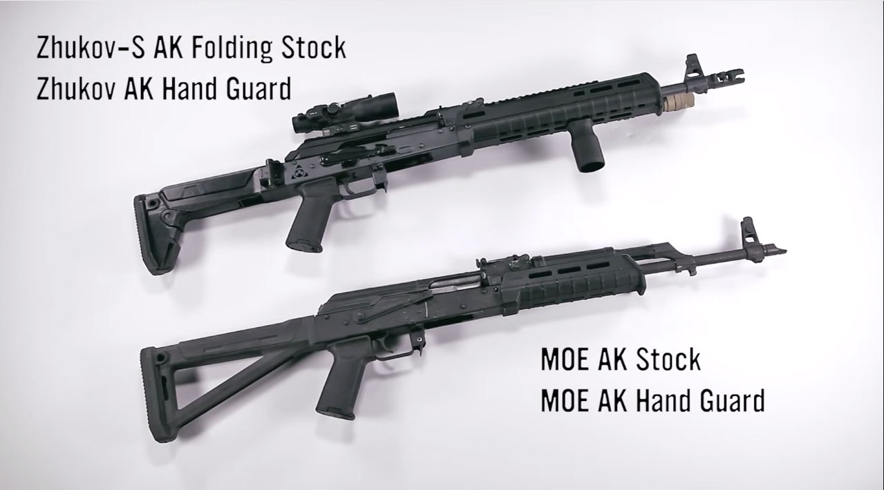 magpul lets you ditch ak wood if you want to go modern - magpulakfurniturepolymer
