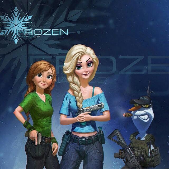 Frozen-guns-Shooting