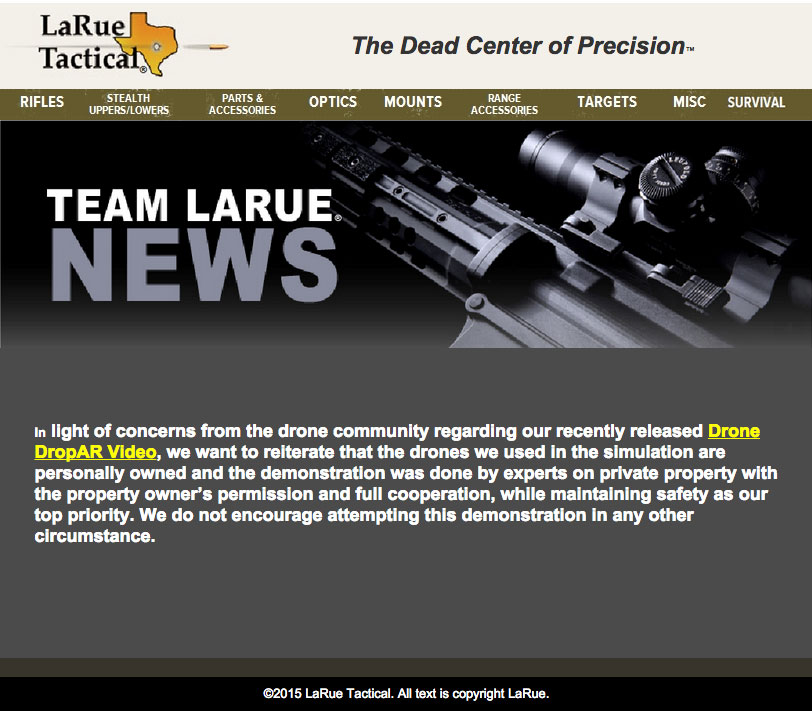 Larue-Tactical-Drone-Community-Outrage