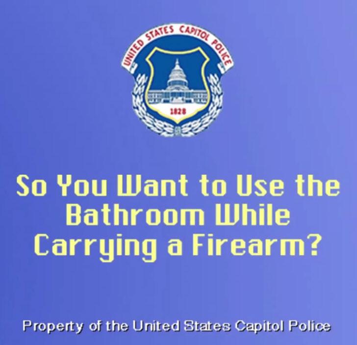Police-forget-gun-bathroom