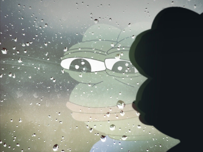 Pepe-Sad-Frog-Rain-Window